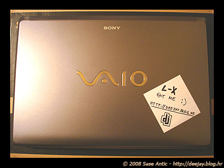 Sony VAIO Laptop Computer VGN-FW21M: L-X got me :)
